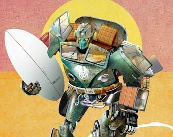 V-Dub Transformer |  illustrated giclée print