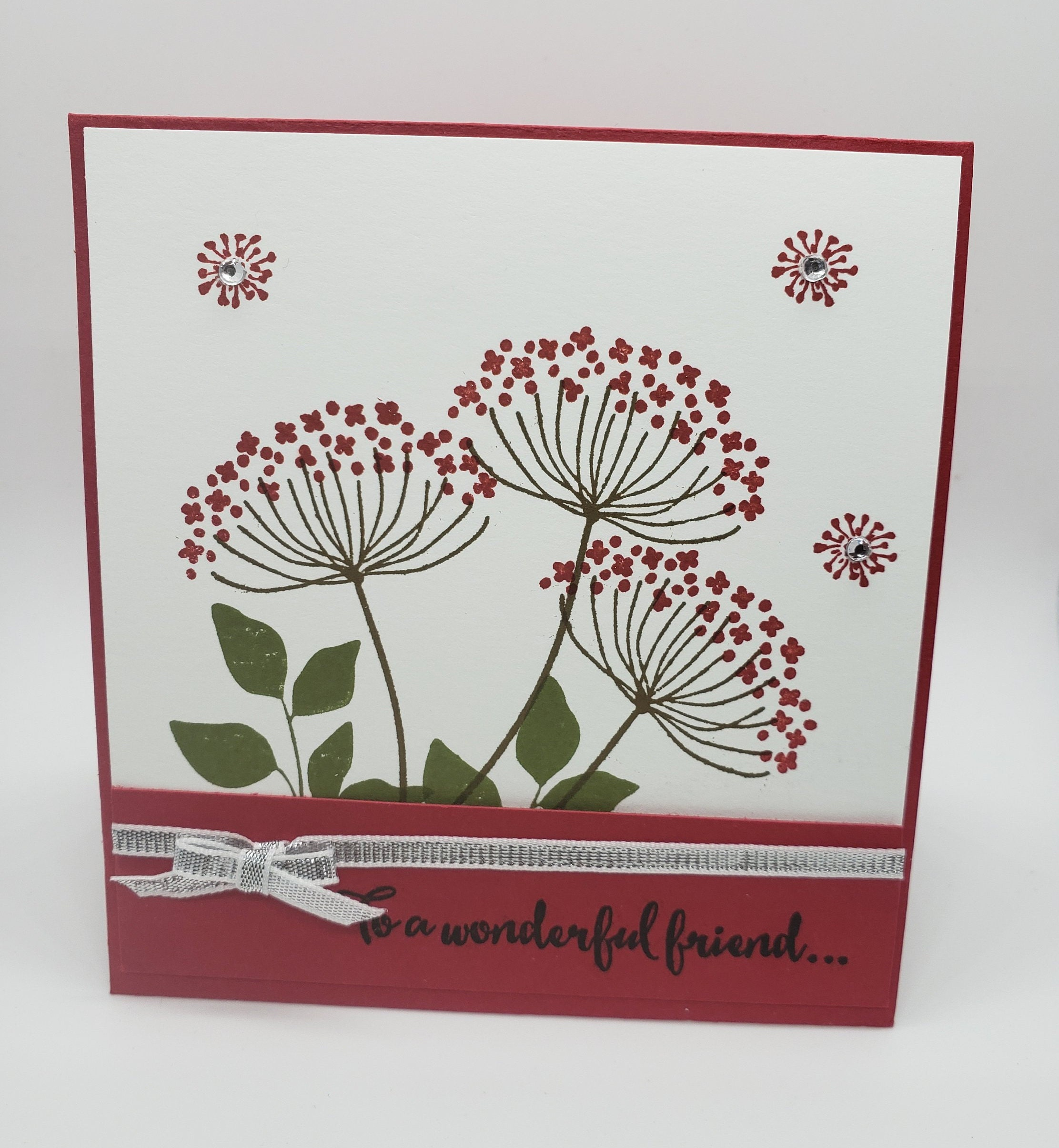 To A Wonderful Friend Greeting Card Stampin Up Dandelion Card