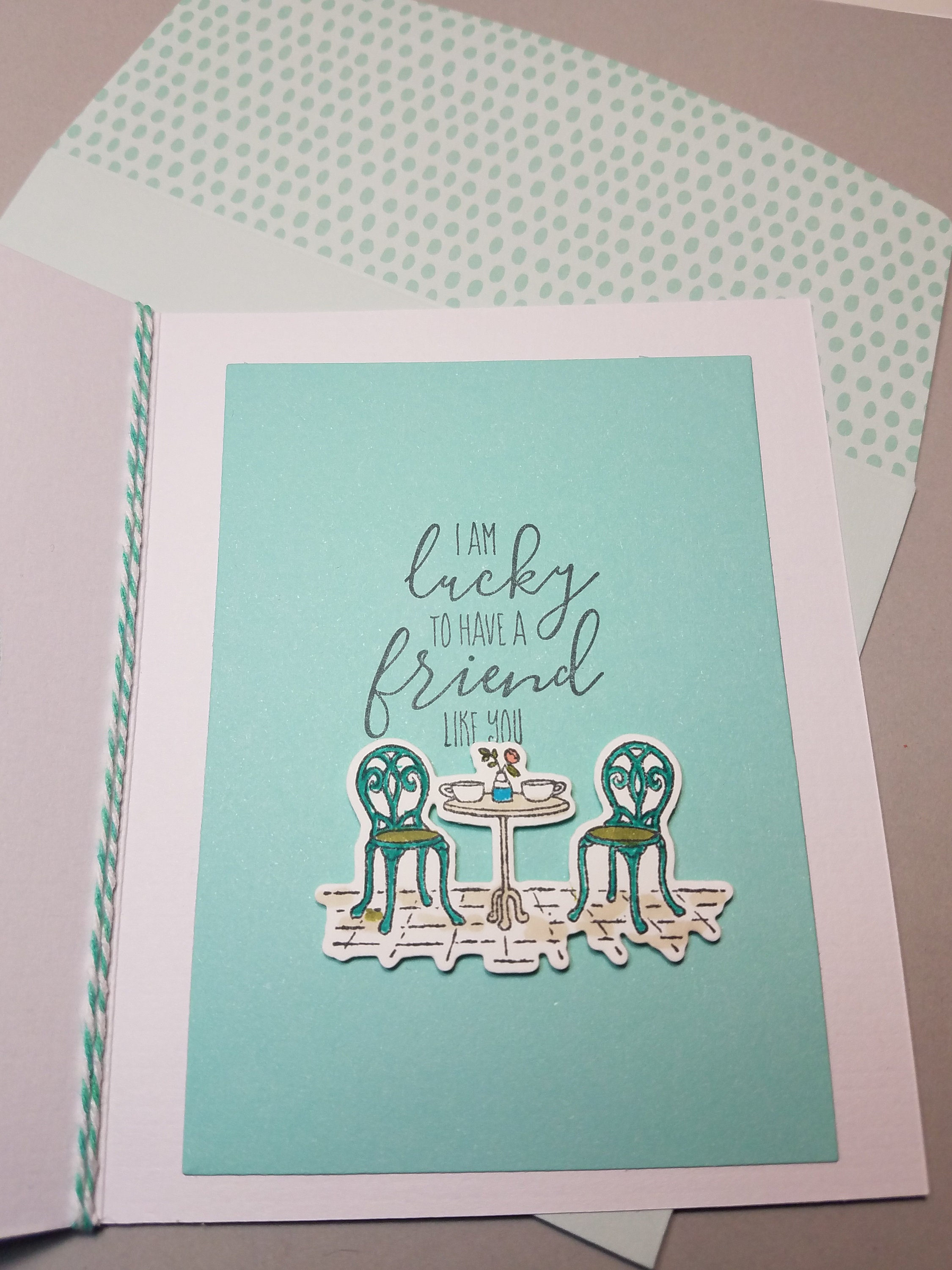 Friendship Card Just Because Note Card Birthday Lucky To Have A