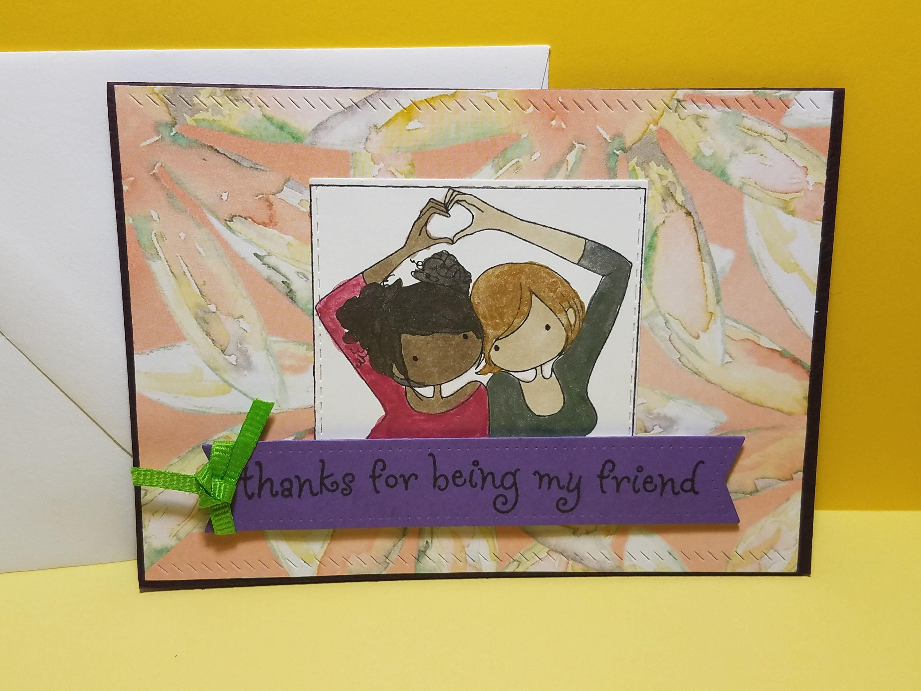 Friendship Greeting Card Thanks For Being My Friend Card Best