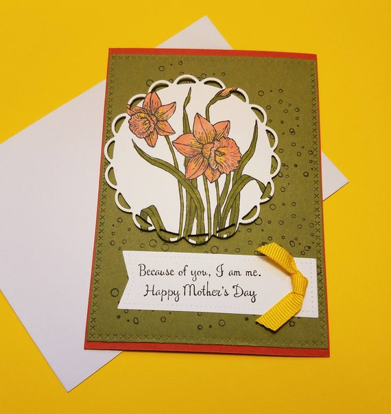 Because of you greeting card happy mothers day card etsy image 0 m4hsunfo