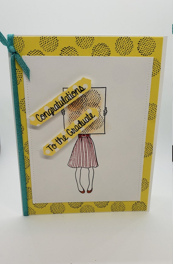 To the graduate greeting card handmade graduation card etsy image 0 m4hsunfo