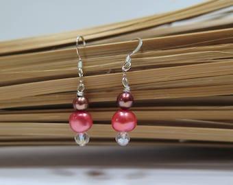 Handcrafted fresh water pearl earrings