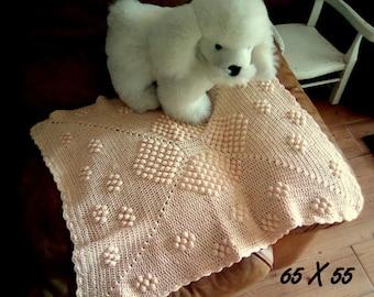 crochet cotton blanket