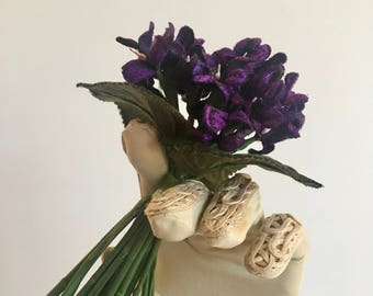 Posy of violets in the vintage style of the 1900's
