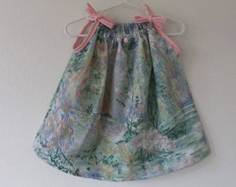 Baby Girls' Upcycled Pillowcase Dress - 9-12 Month Size