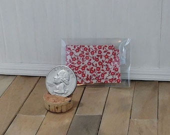1:12 scale dollhouse miniature red flower kitchen placemats set of 2