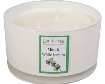 3-wick candle - Mint & White Jasmine