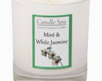 20cl (120g) candle - Mint & White Jasmine