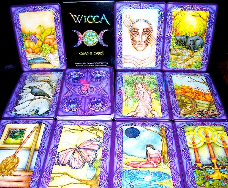 Tarot Wicca Oracle First Edition Tarot Cards Vintage Etsy