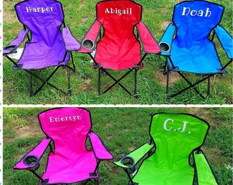 Kids Camping Chair, Kids Canvas Outdoor Chair,