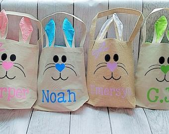 Bunny Ear Bag, Easter Bag, Easter Bunny Bag, Easter Bunny Tote, Easter Tote, Easter Egg Hunt Bag, Easter Egg Hunt Bunny Bag, Bunny Ear Bag