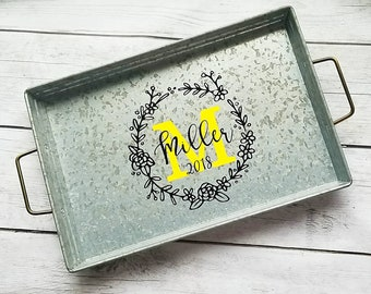 Custom serving tray, personalized serving tray, firepit serving tray, outdoor entertaining tray, bbq serving tray, housewarming gift