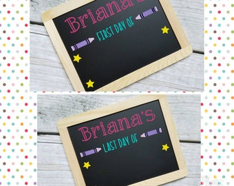 Reusable Back to School Chalkboards, First Day of School sign, last day of school sign, double sided sign, first day chalkboard, last day