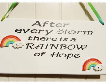 Rainbow Baby, Rainbow, New baby, celebration, personalised,  Wall Plaque