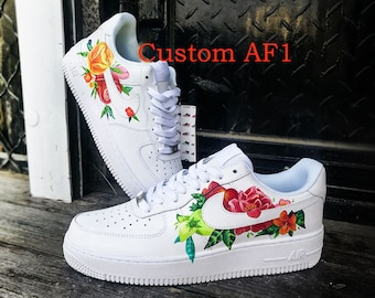 Custom sneakers Nike Air Force 1 ''Flowers'' in 2019