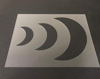 Sun Moon Stars Kids Art Craft Reusable Stencil Decor Size A5 4 3 2 1 //198