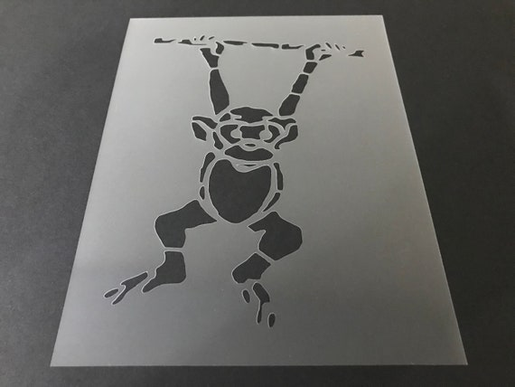 Buy 2 Get 1 Free! Mix /& Match Monkey #6 Stencil