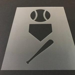 Buy 2 Get 1 Free! Mix /& Match Baseball #9 Stencil