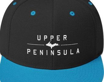 Upper Peninsula Snapback Hat, Upper Michigan Hat, UP Hat, Upper Peninsula Hat, Yooper Hat, 906 Hat, Marquette Hat, Yooper Gift, Yooper Gifts