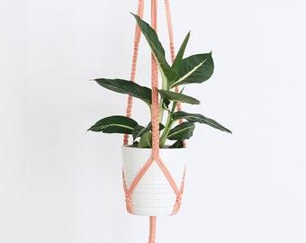 Boho macrame Color Hanging flowerpot