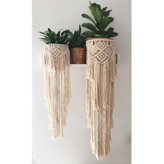 flower pot wrap skirt boho macrame etsy. Black Bedroom Furniture Sets. Home Design Ideas