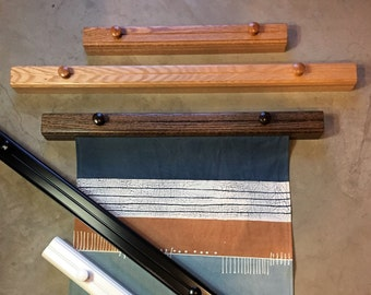 """18-36"""" Custom Quilt & Rug Hangers - Several Finishes Available in Oak or Maple - Original Style"""