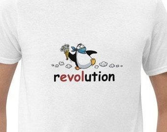 Revolution - Freedom fighter penguin - Short-Sleeve Unisex T-Shirt