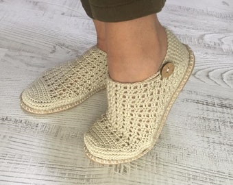 Summer Walks - Handcrafted Crochet Shoes. Hand knitted & Hand stitched. by Babu Shoes
