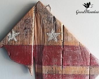 Handcrafted Wooden Washington DC Map Flag Wall Art, DC Decor, Capital City, Wooden Art
