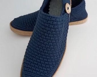 Boardwalk Slip on loafers - Crochet shoes. Handcrafted