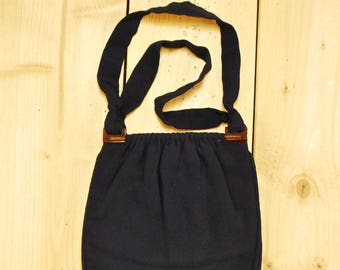 1930's/40's Navy Blue Purse with Bakelite Details / Midcentury / Rare Collectable Retro