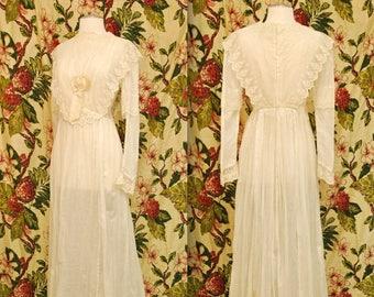 Edwardian Wedding Dress / Rare Collectable Retro