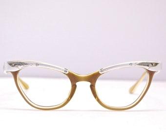 badadfe30ce7 1950 s 60 s LIBERTY USA Cateye Optical Eyeglasses   Midcentury   Cat Eye    Rockabilly   Rare Collectable Retro  1885