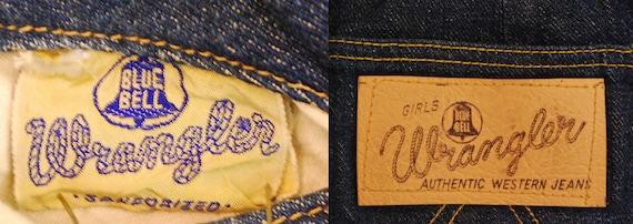1950's/60's Girls Blue Bell Wrangler Side Zip Jea… - image 6