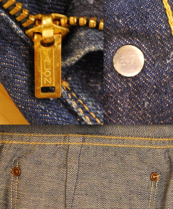 1950's/60's Girls Blue Bell Wrangler Side Zip Jea… - image 7