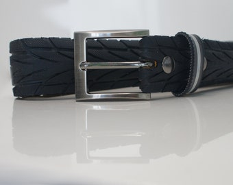 Biker Belt I 35 mm gunmetal I vegan