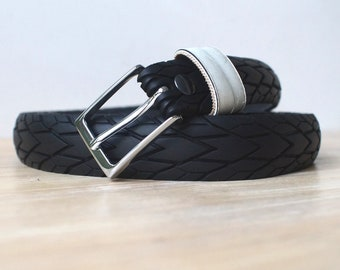 "Tire belt l 30 mm I ""SW"" upcycled -vegan-"