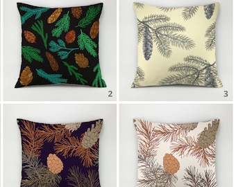 Fir-cone pillow pinecone pillow needles pillow spruce pillow fir-tree pillow fir pillow pine-tree pillow nature pillow throw pillow case