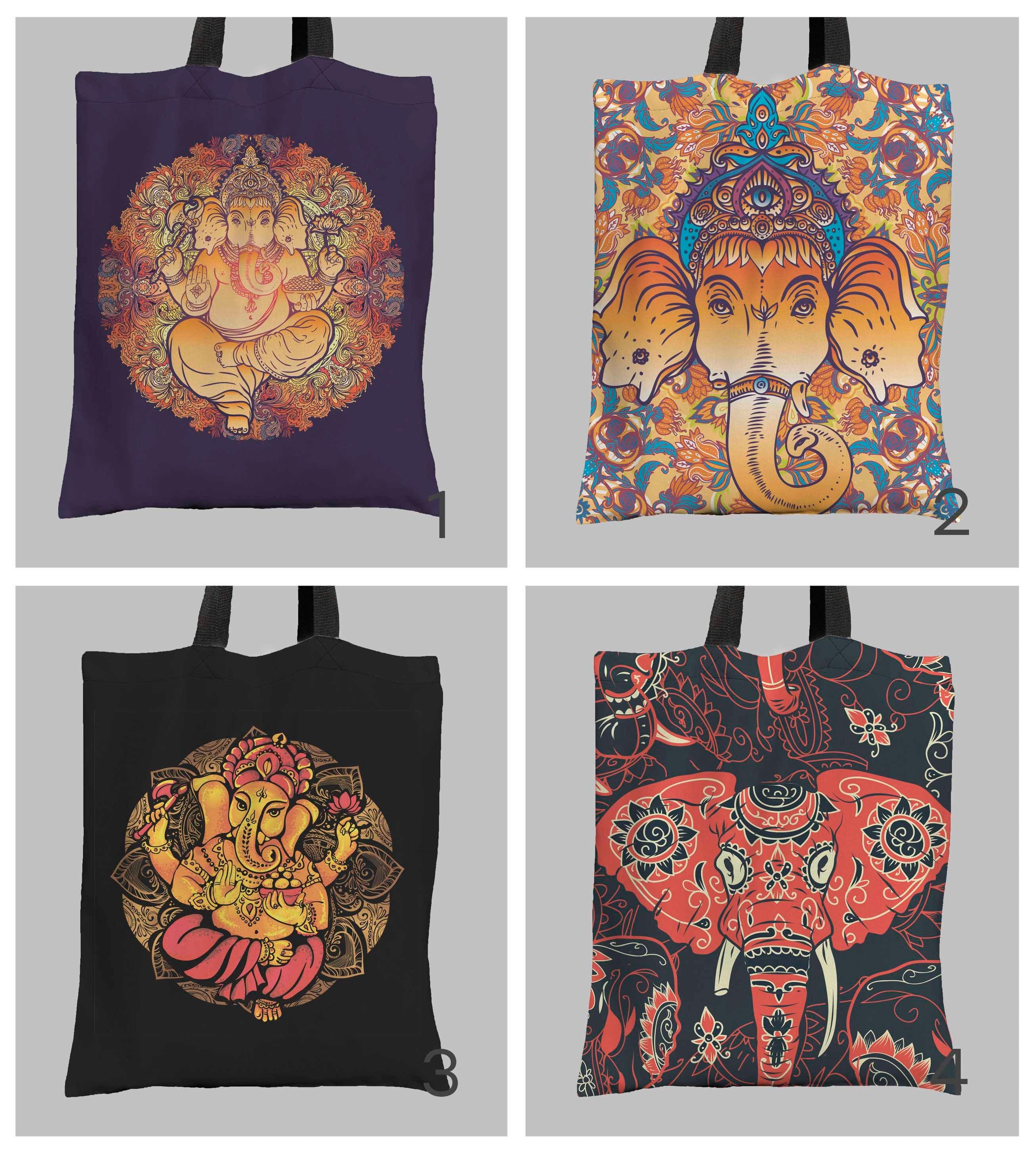 676ca9e73d13 Hindu lord Ganesha bag Hindu bag Ganesha eco bag Elephant