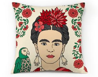 Frida kahlo pillow case Decorative pillow Throw pillow cover famoses pillows celebrities pillows frida pillow idol pillows popart pillowcase