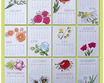 Desk Calendar 2018 -- Floral Calendar