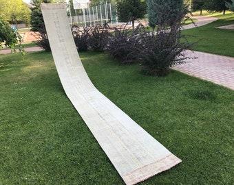 2.2x19.1 FT / Extra Long Patchwork Rug Runner,Handmade stair case Rug Runner, Floor Hallway Long Runner,Turkish Runner Home Rug Stair Case
