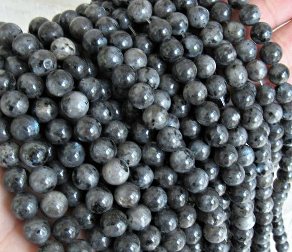 Black Moonstone 8mm Larvikite beads black labradorite ...