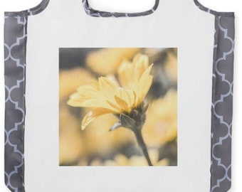 Wyoming Wildflower Bag, Floral Tote Gift for Gardener, Washable Roll Up Bags, Flower Photography, Shopping Bag Guesthouse Gift