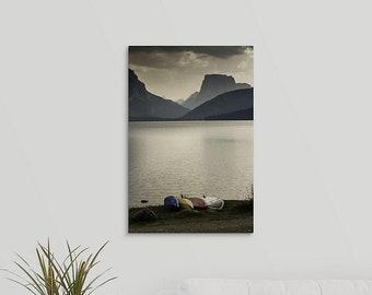 Boating Decor Canvas Print, Paddleboard Wyoming Photo, Mountain Lake House Decor , Kayaking SUP Gifts, Lake Life Art