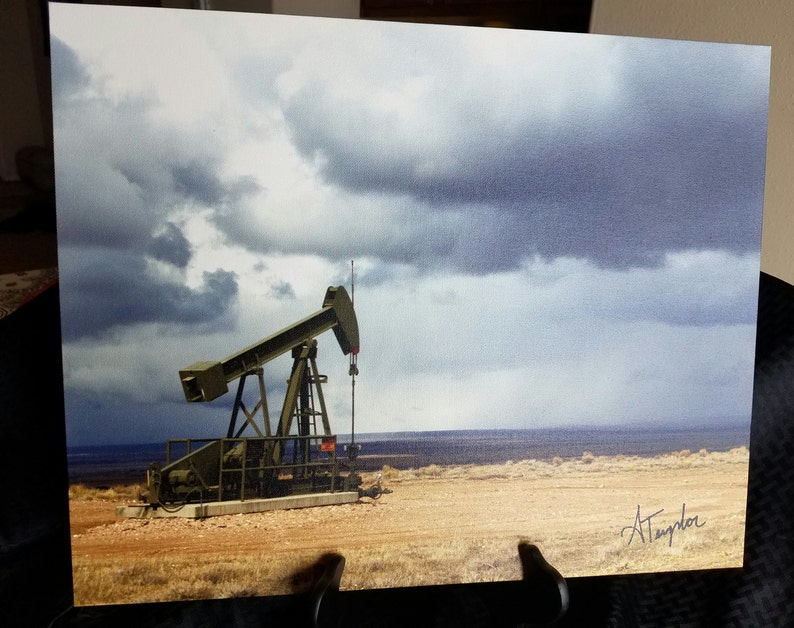 Oilfield Decor, 16x20 Canvas Print, Oil And Gas Art, Wyoming Photography,  Canvas Wall Art, Wyoming Decor, Retirement Gifts, Office Decor