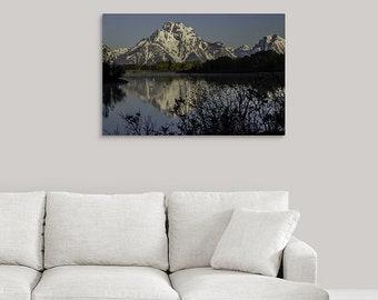 Grand Teton Wall Art, National Park Metal Photo Print, Teton Mountains Jackson Hole, Wyoming Decor Gifts