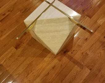 Authentic Artedi Travertine Coffee Table MCM Minimalism Perfected  Glass  Base