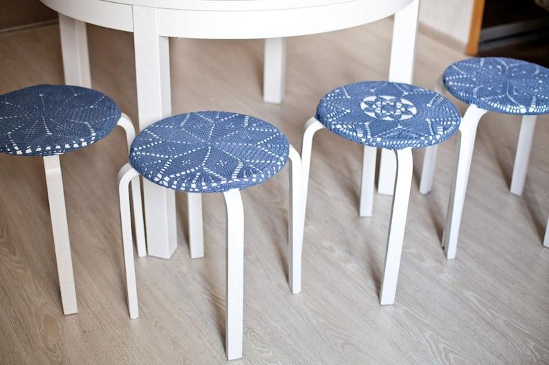 Set di copertine maglia ikea sgabello sedia cucina coperchio etsy